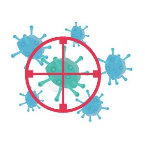 Wirkungsspektrum bakterizid oder bakteriostatisch im Reinraum