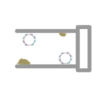 Anordnung der Reinigungskugeln in einer Rohrleitung
