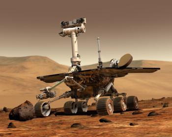 Typischer Marsrover, wie er üblicherweise eingesetzt wird.