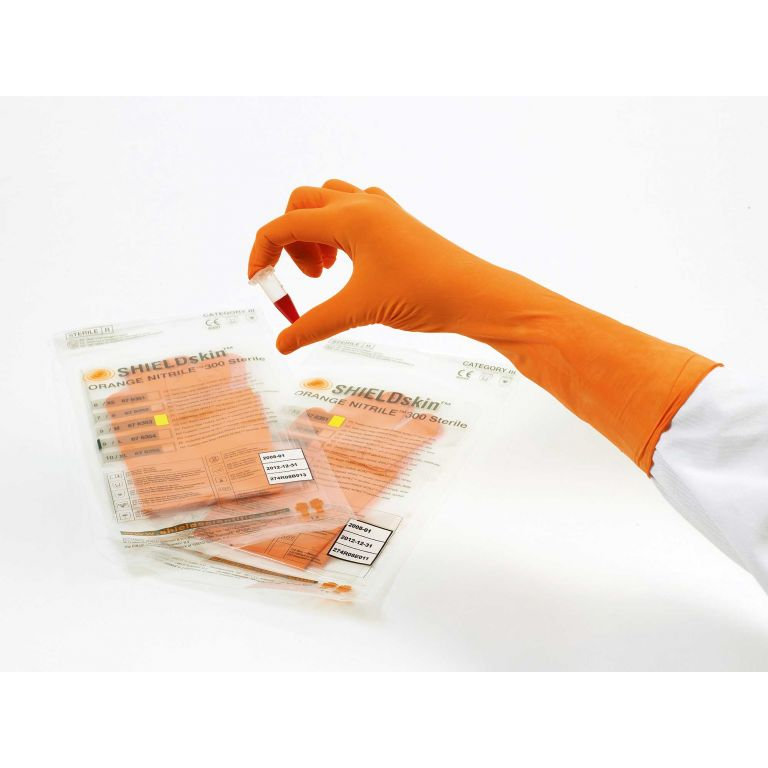SHIELDskin Orange Nitrile 300 Sterile - 676353 von Shield Scientific