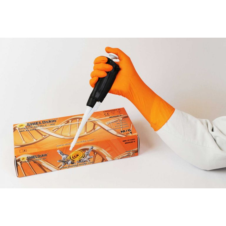 SHIELDskin Orange Nitrile 300 - 676253 von Shield Scientific