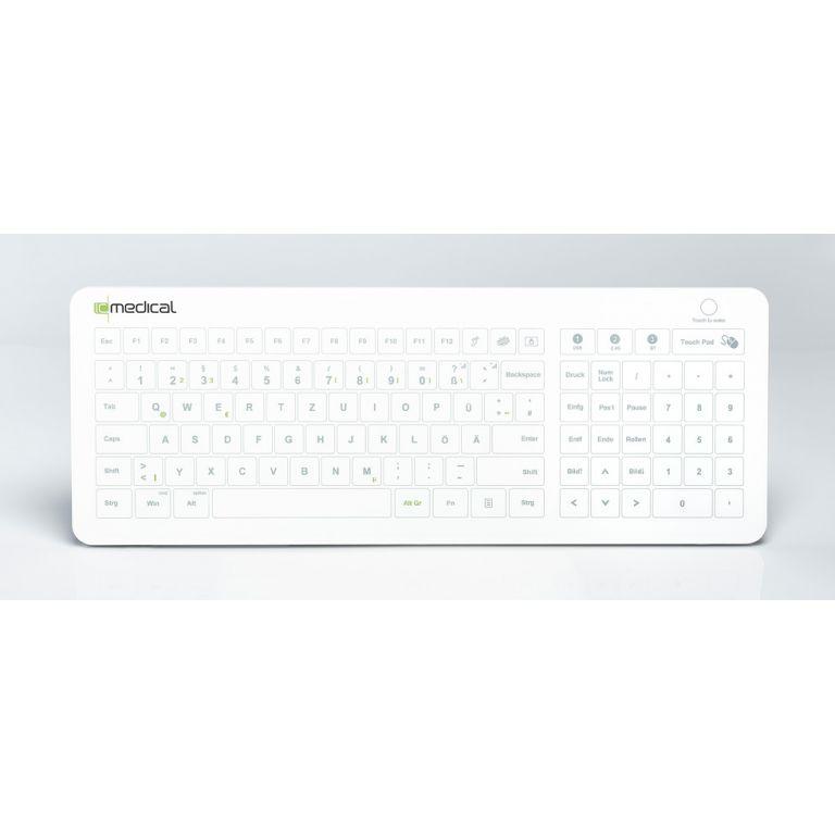 Reinraum-Tastatur IC KEYS mit integriertem Touchpad