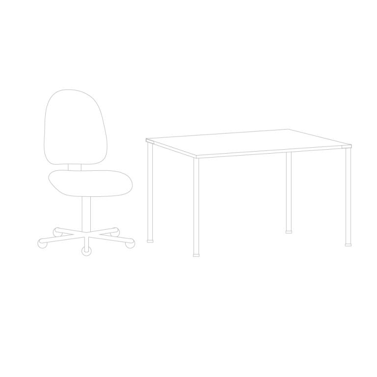 Sit-Over-Bank aus HPL-beschichteter Spanplatte