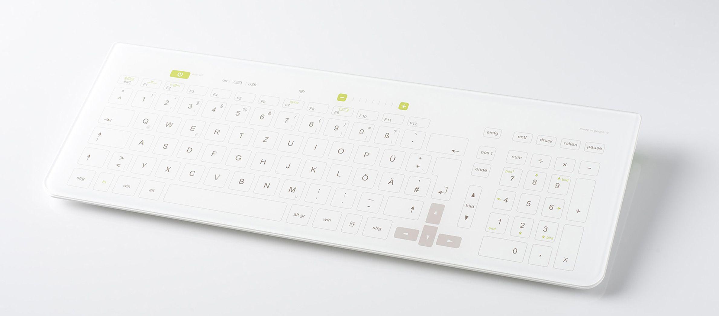 Schnurlose Reinraum-Computertastatur