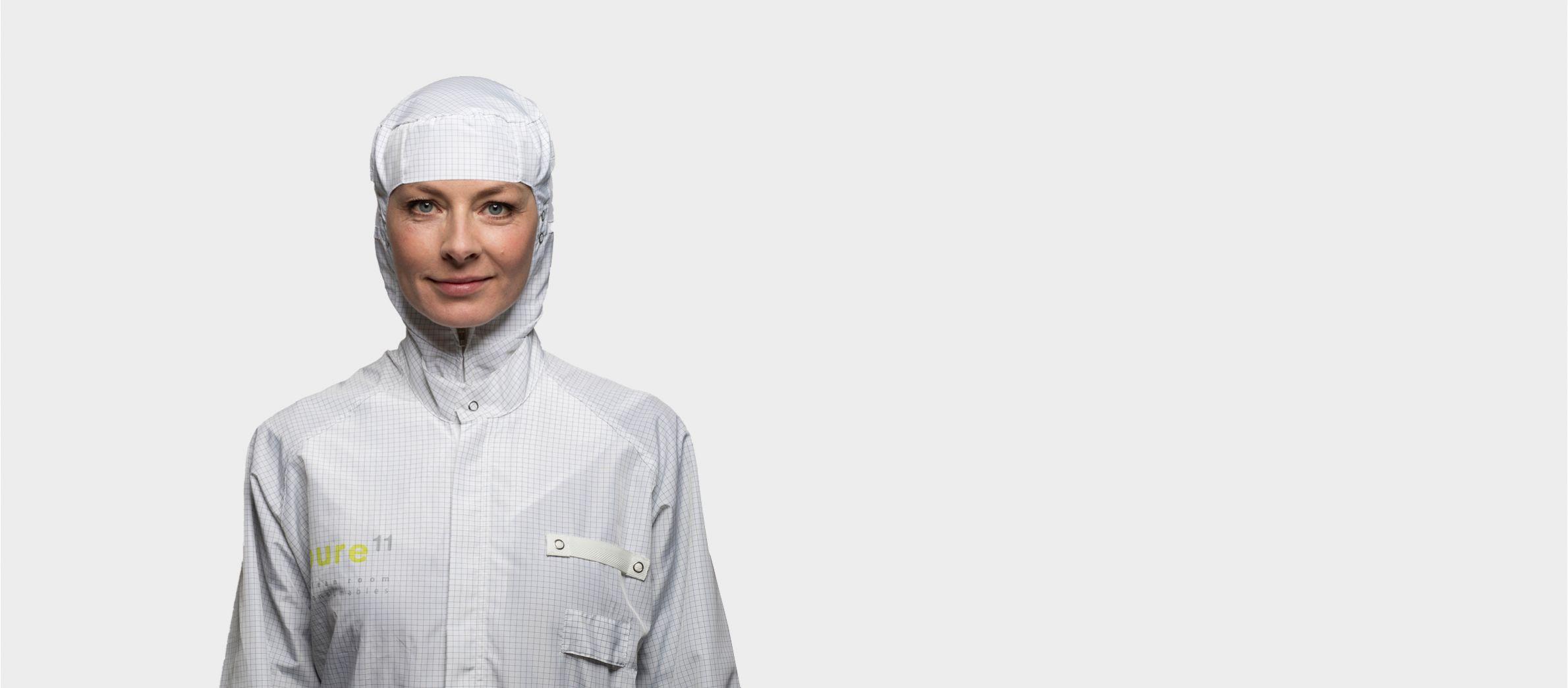 Die empfohlene Bekleidung in einem ISO-Reinraum