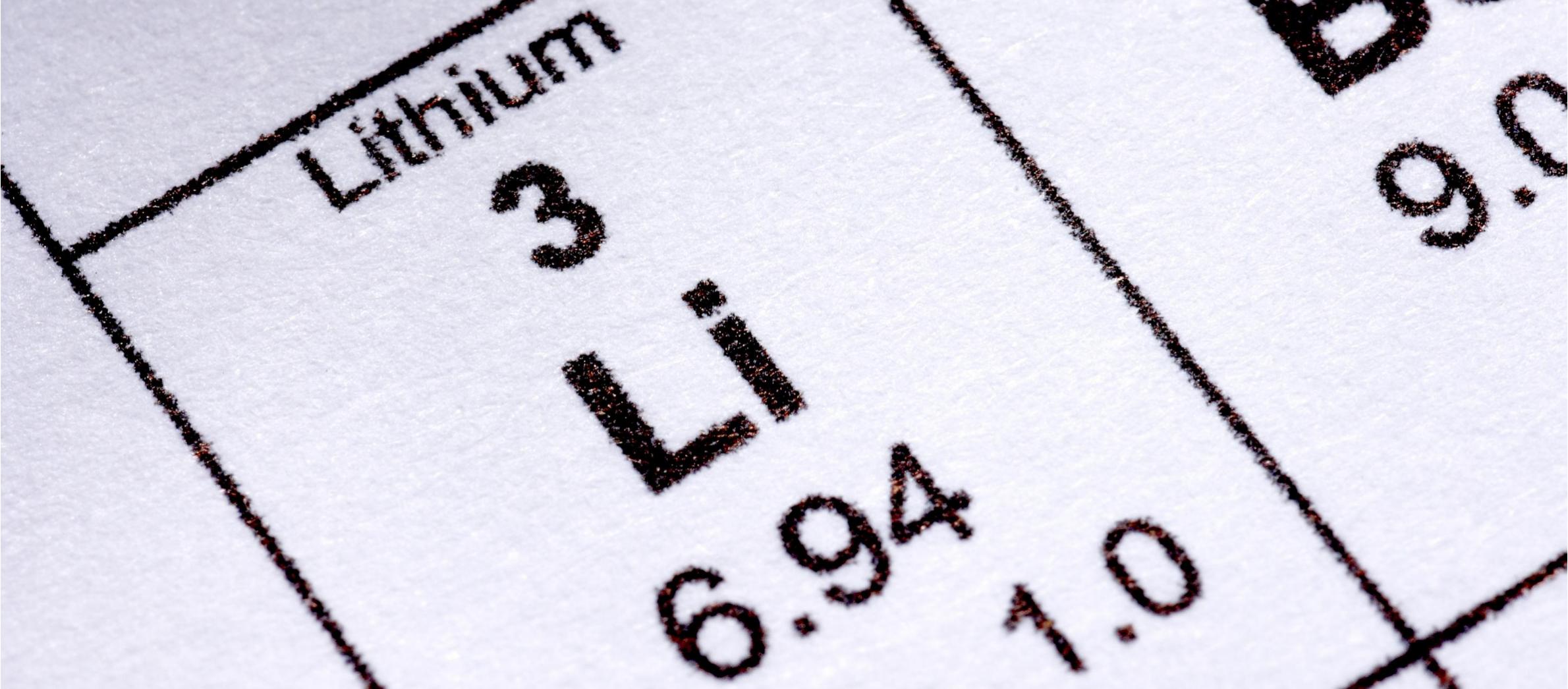 Lithium in Batterien